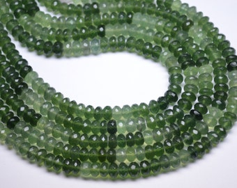 "20% Off -AAAA-Top Grade Superfine Quality 8"" Strand Calibrated 7mm Natural Serpentine Gemstone Shaded Faceted Rondelle Beads Strand-45 Beads"