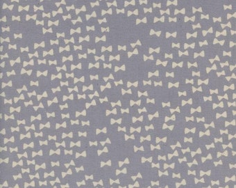 Bow Ties Grey from Flower Shop by Alexia Marcelle Abegg for Cotton and Steel- 1/2 Yard