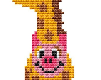 Modern Cross Stitch Kit 'Pig in a Giraffe Suit' Cross Stitch Kit - Pig
