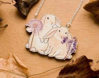Woodland Bunnies Necklace