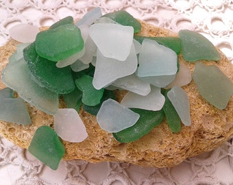 Sea Glass 50 pieces Beach Natural Sea Glass Coastal Art beach glass craft Home Decor Beach Wedding Real Sea Glass