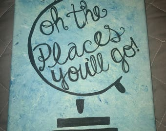 Oh, the places you'll go! painting