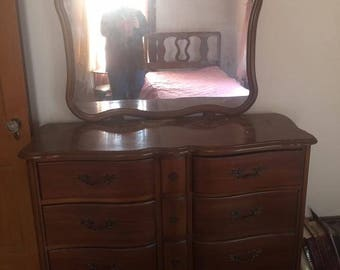 6 Drawer French Dresser and mirror