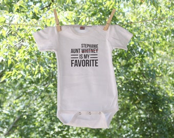 Personalized Aunt/Uncle is my favorite - Simple Text Infant Bodysuit