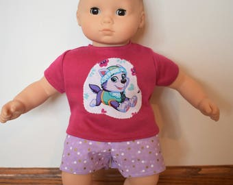 """15"""" Doll Paw Patrol Outfit for American Girl Doll Bitty Baby Twins"""