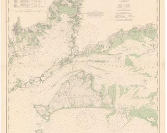 Martha's Vineyard Map 1914