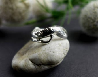 C. elegans Ring - 3D printed Jewelry -Science Jewelry - Model Organism Ring -Biology Gift for Her-Scientist Jewelry-Biology Jewelry-PhD Gift