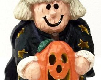 Primitive Halloween Witch Decoration