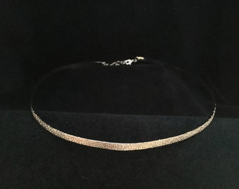 Simple Pitted Silver Band Circlet Headpiece With or Without Moon