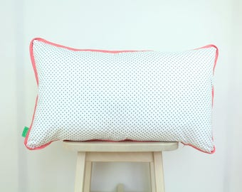 Pillow Speck with pink edges, hand made