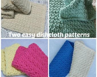 Dishcloth Pattern 2 Easy Crochet Dishcloth Patterns