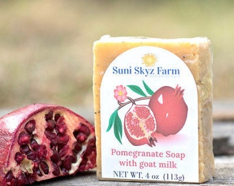 Pomegranate Goat Milk Soap - Pomegranate Soap - Goat Milk Soap - Handmade Pomegranate Soap - Natural Pomegranate Soap - Handcrafted Soap