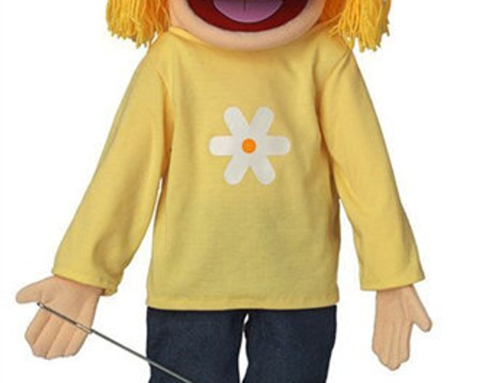 """New PUPPET! BIG 25"""" Professional Puppet - Little Girl, Teenager - Full Body Muppet Mouth Puppet with Arm Rod"""