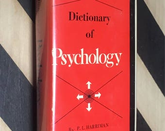 Dictionary of Psychology by P. L. Harriman (1947) hardcover book