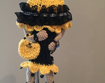Crochet golf club cover, crochet golf, club cutie