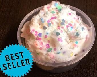 Birthday Sale / Best Cake Batter Cloud Slime / On Sale Slime / Confetti Slime / Scented Slime / Birthday / free slime / ASMR /