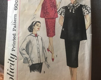 Vintage 50s Simplicity 3276 Maternity Separates-Size 14 (34 Bust)