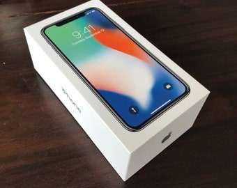 New box iphone x silver