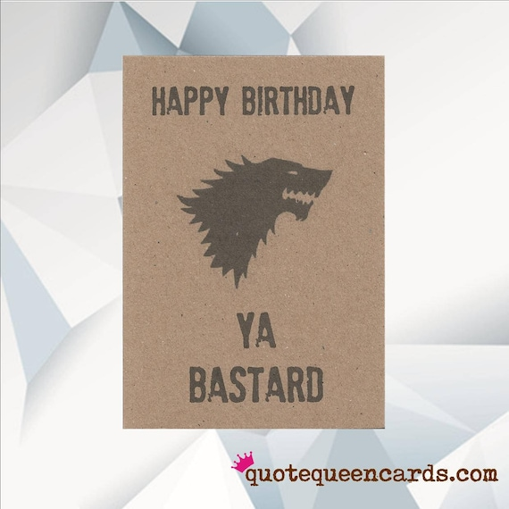Funny birthday card jon snow game of thrones card got like this item bookmarktalkfo Image collections