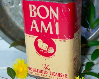 Vintage Bon Ami Container - Unopened - Cleanser - Advertising - Kitchen Farmhouse Chic - Farm Chick