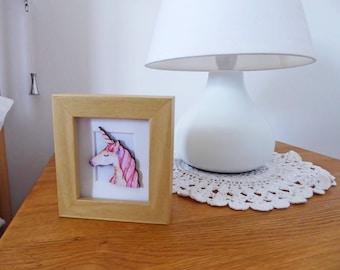 Unicorn Miniature Box Frame Art