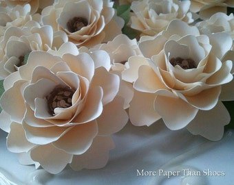 Paper Flowers - Weddings - Placecards - Elizabeth Rose - Ivory - Set of 50 - ANY COLOR - Made To Order