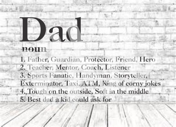 Definition Of Dad SVG PNG DXF Vinyl Design Circut Cameo