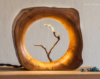 Wood Lamp / Bedside Lamp/  Wooden Table Lamp / Night Light / Gift From Siberia