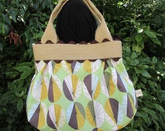 Green Parasols print Project bag 450