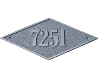 Majestic MFG Aluminum Diamond Address Plaques House Numbers ** Made in the USA ** ** Free Shipping**