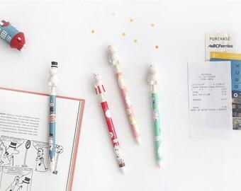 MOOMIN Figure Ballpoint Pen / Black ink pen / 0.5mm ballpoint pen / 4type[moomin papa/moomin mama/moomin/snorkmaiden] / S-11 / 1528186
