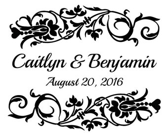 Custom Bride and Groom Wedding Logo Name Design for Signs or Gobo