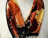 Autumn Orange Patchwork -...