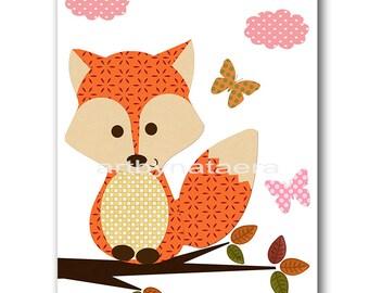 Fox Nursery Baby Nursery Decor Printable Digital Download Printable Nursery Art Baby Print Download Print 8x10 11X14 INSTANT DOWNLOAD art