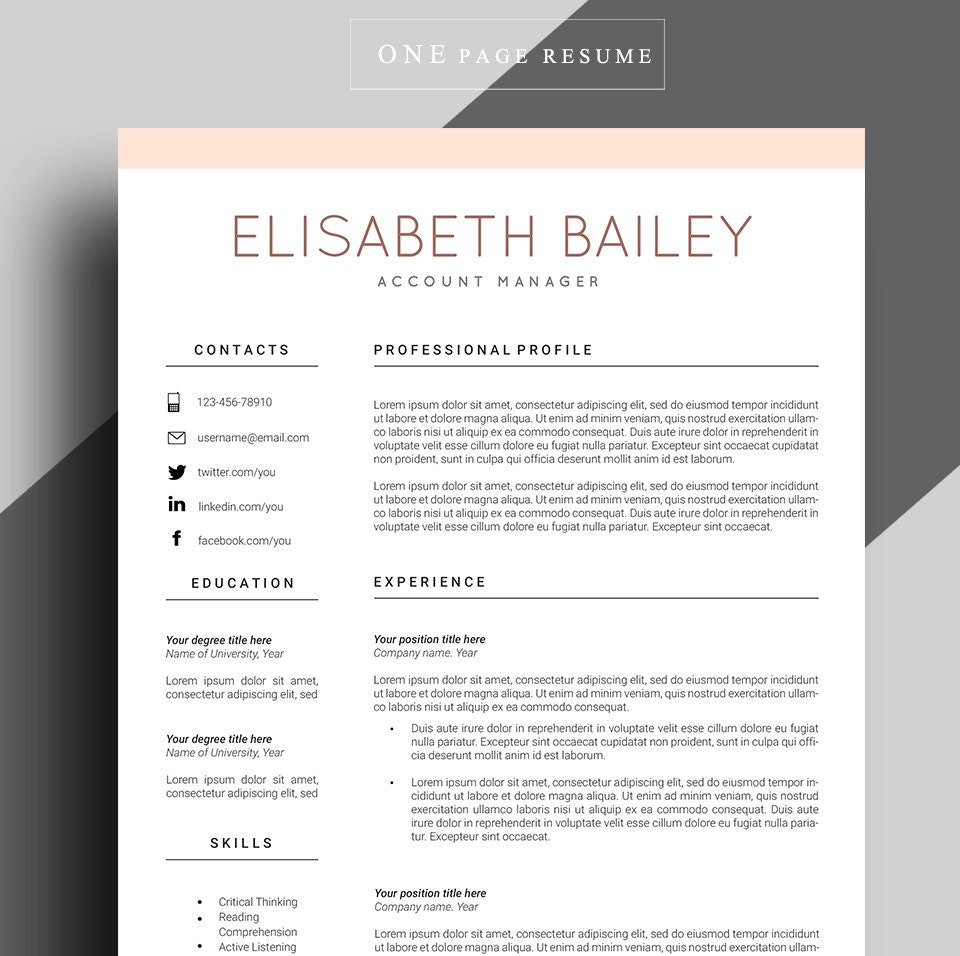 Resume template cv template professional resume template zoom yelopaper Choice Image