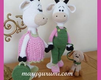 Cow crochet Amigurumi plush