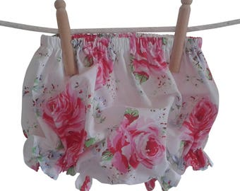 English Rose and Eyelet Baby Bloomers