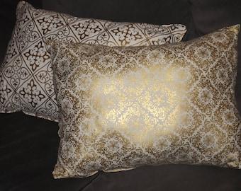 White and Gold Pillows | Throw Pillows | Glam Pillows | Living Room Decor | Nursery Decor | Office Decor | Gold Pillows | Sofa Pillows |