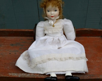 Vintage Fana's Ceramic Doll 20 Inches Tall - Fana Dolls Spain