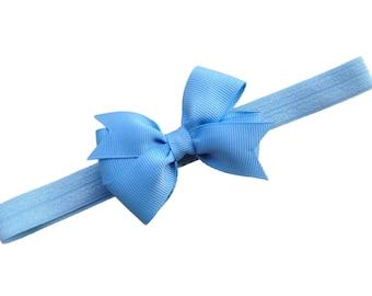 Light blue baby headband - light blue bow headband, newborn headband, baby bow headband, baby bows, baby hair bows, newborn bows, baby girl