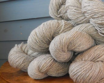 Worsted Weight 100% Wool Yarn - 2 ply - Priced Per Skein
