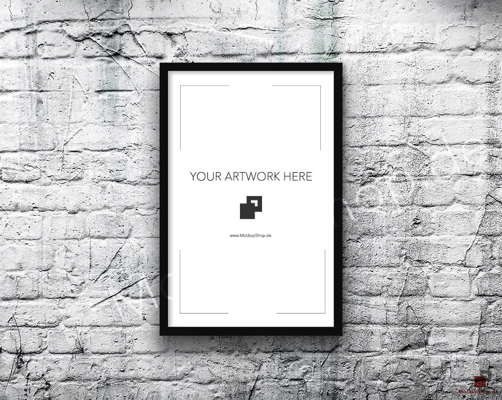 11x17 Vertical Digital BLACK FRAME MOCKUP, Styled Photography Poster ...