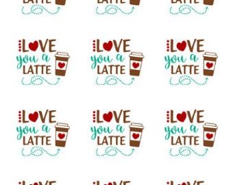 I Love You A Latte Chocolate Covered Cookies