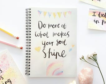 Inspirational quote notebook - A5 notebook - Positive quote notebook - Uplifting gift - Encouraging gift - Stocking filler - Gift for friend