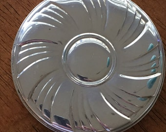 Vintage Towle sterling silver round   purse mirror 3.-1/4-inch diameter excellent condition c1950s