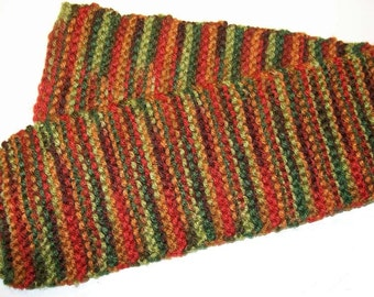 Autumn Colours Knit Scarf