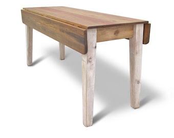 Drop leaf table etsy table dining table reclaimed wood kitchen table drop leaf table farmhouse rustic watchthetrailerfo