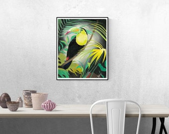 Toucan Giclee print from original painting