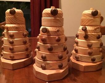 Dalek Stacking Toy Wood