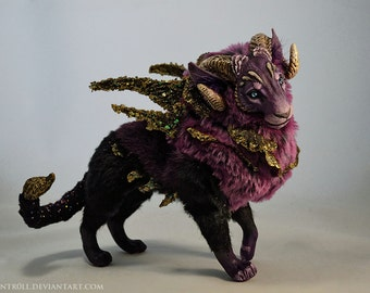 RESERVED until 09/03 Royal Nebula Manticore OOAK art doll